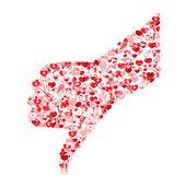 Template design Like symbol icon Valentine's day idea illustrati — Stock Vector