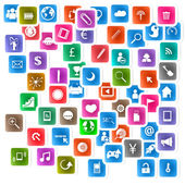 Social network background with media icons — Stock Vector