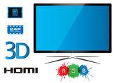 Led televizyon - vektör tasarımı — Stok Vektör