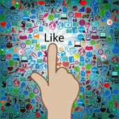 Template design like at Social network light bulb idea illustrat — Stock Photo