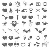 Set valentine's day objects, Love icon  — ストックベクタ