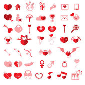 Set valentine's day objects, Love icon  — Stock Vector