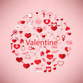 Template Circle Valentine's day, Love icon  — Cтоковый вектор