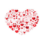 The Heart Valentine's day, Love icon — Stock Vector