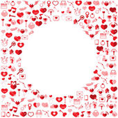 Template Circle Valentine's day, Love icon  — Stock Vector