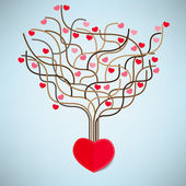 The Tree Heart Valentine's day, Love icon. — Stockvector