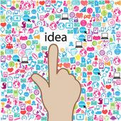 Template design idea at Social network light bulb idea vector il — Cтоковый вектор