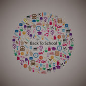 Back to School Circle Seamless children background  — Stock Vector