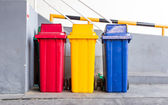 Trashcan factory — Stock Photo