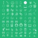 Social color Media Circles Icon, Network Vector — Stock Photo