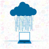 Social network background Cloud computing concept  — Stock Vector