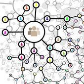 Molekül und Kommunikation-Hintergrund - Vektor-Illustration, gra — Stockvektor