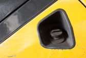 Car Gas Tank of Forklift - Fueling Theme. Closeup. Transportatio — Stock Photo