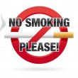 No Smoking Please! - Stock Vector