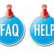 FAQ- and HELP-buttons — Stock Vector