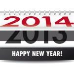Happy New Year! 2014 — Stock Vector