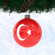 Stock Photo: Xmas ball Turkey