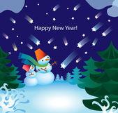 Sneeuwpop. — Stockvector