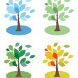 Seasons trees - Stock Vector