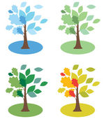 Mevsim ağaçlar — Stok Vektör