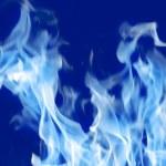 Fire Blue — Stock Photo