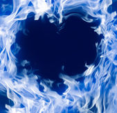 Hot fire heart — Stock Photo