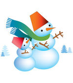 Christmas snögubbe — Stockfoto