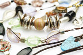 Jewelry - bracelets and necklaces — Stock Photo