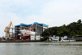 Guangzhou huangpu shipbuilding wharf — Stock Photo