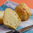 Cheese muffins with texture — Stock Photo