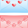 Cute love letters isolated on white background — Stock Vector #23172440