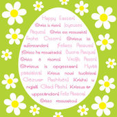 Easter greeting card in various languages — Stock Vector
