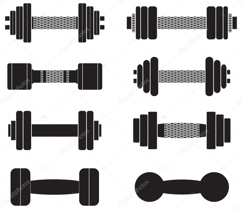 Dumbbell Icon Vector removed in vector programs
