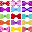 Bow collection — Imagen vectorial