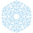 Stock Vector: Lacy snowflake