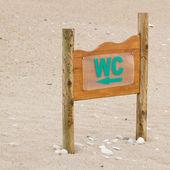 Beach toilet pointer — Stock Photo