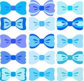 Blue bows collection — Stock Vector