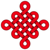 Beautiful chinese knot — 图库矢量图片