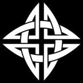Celtic Quaternary knot — Stock Vector