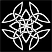 Celtic Carolingian Cross — Stok Vektör