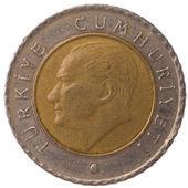 50 Turkish kurus coin, 2009, face — Stock Photo