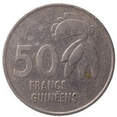 50 Guinean franc coin, 1994, back — Stock Photo