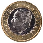 1 トルコ リラ硬貨、2011 年の顔 — ストック写真