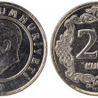 25 Turkish kurus coin, 2011, both sides — Stock Photo