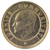 10 Turkish kurus coin, 2011, face — Stock Photo
