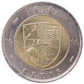 100 Ghana cedis (second cedi) coin, 1999, back — Stock Photo