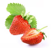 Strawberry with slice — Stock Photo