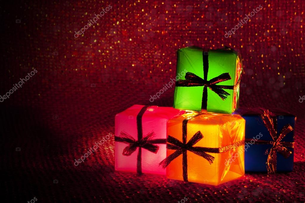 Christmas gifts with lights  Stock Photo #16837717