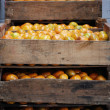 Stock Photo: Wooden crate with oranges