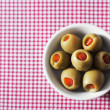 Stock Photo: Green olives stuffed